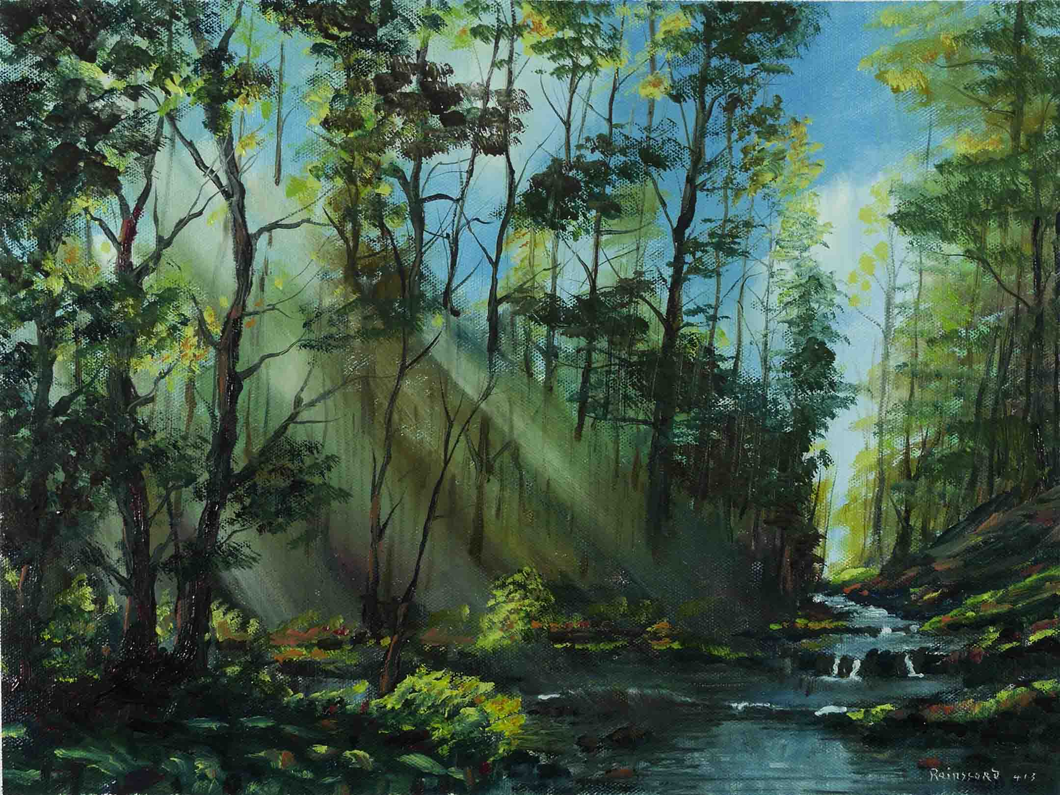 Famous Picture Painted Of A Tree And Pond